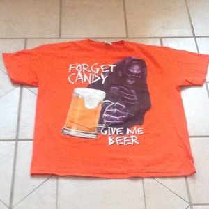 """""""Forget Candy...Bring Me Beer"""" T-Shirt.  Sz XL"""